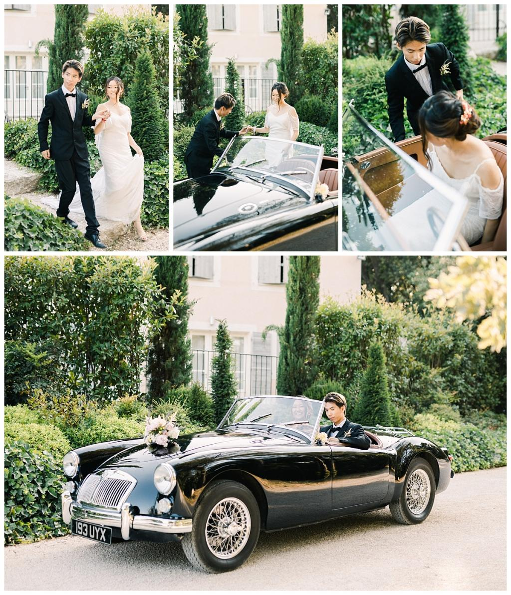 destination wedding provence classic car