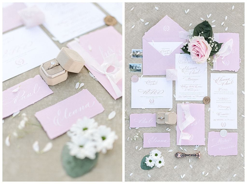 beautiful letters papeterie calligraphie mariage