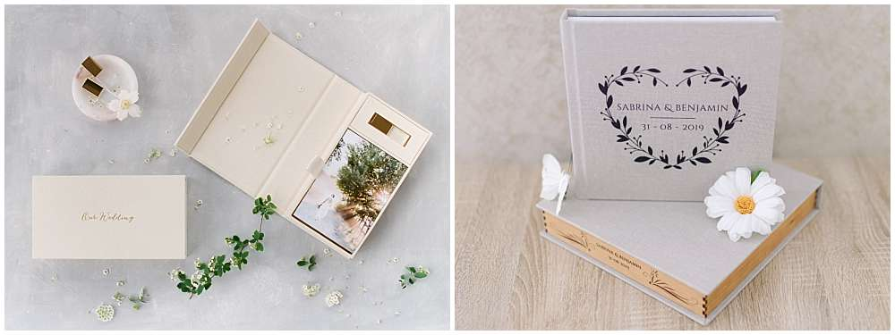 packaging livre photo mariage chateauneuf du pape